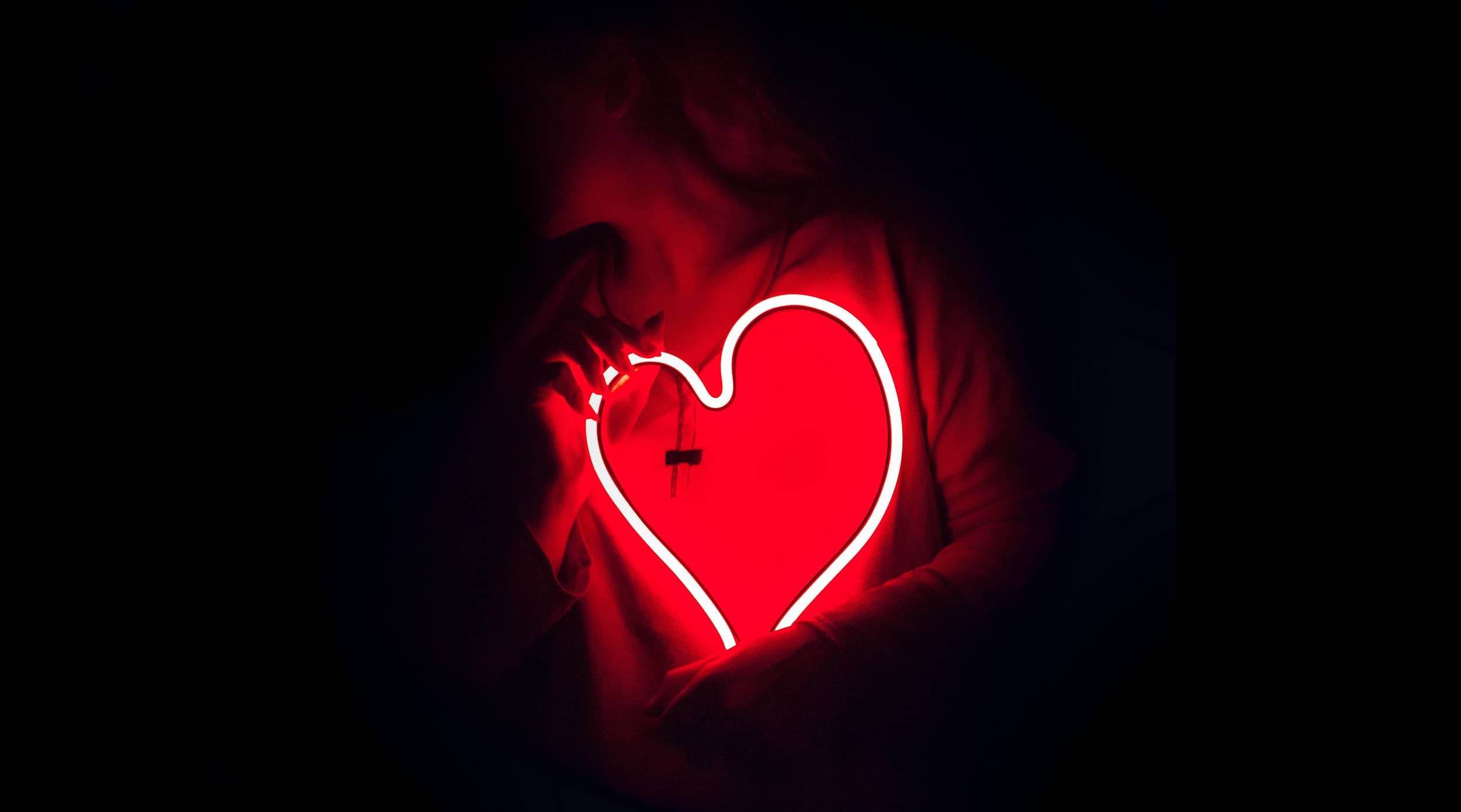 A glowing heart representing how positive social emotional learning can inspire change